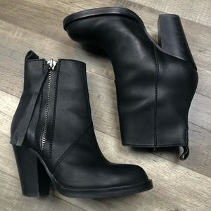ACNE   Matte Black Heeled Pistol Boots Booties 35